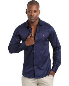 Polo Greig Shirt Navy Blue