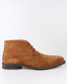 Polo Mens Ankle Boot Brown