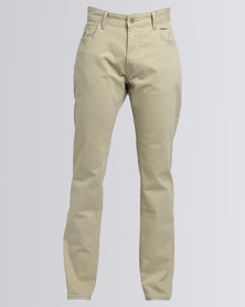 Polo Dylan 5 Pocket Narrow Leg Chino Taupe