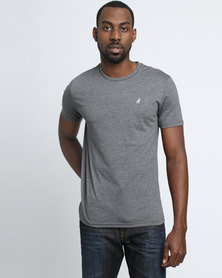 Polo Mens Crew Neck T-shirt Charcoal