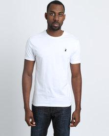 Polo Mens Crew Neck T-shirt White