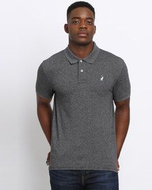 Polo Mens Classic Stretch Pique SS Golfer Charcoal