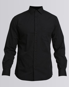 Polo Mens Relaxed Fit Work Shirt Black