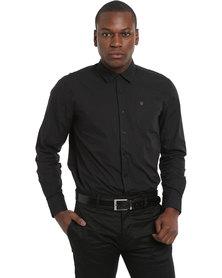 Polo Men's Laundered Damon Shirt Black