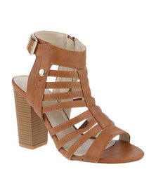 Polo Scarlett Gladiator High Heel Sandal Tan