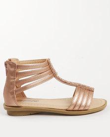 Pretty Feet Girls Sandals Rose Gold