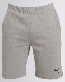 "Puma Essential Jersey Shorts 9"" Grey"