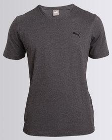 Puma Essential V-Neck Tee Grey