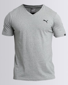 Puma Essentials V-Neck Tee Grey
