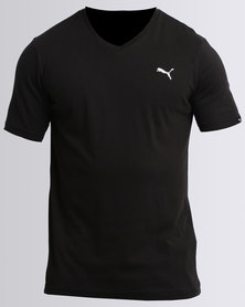 Puma Essentials V-Neck Tee Black