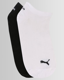 Puma Ladies 2 Pack Secret Socks White