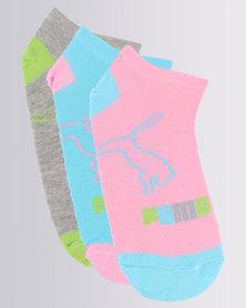 Puma Ladies 3 Pack Secret Socks Multi