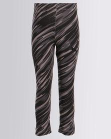 Puma Printed Leggings Cotton Black