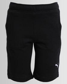 Puma Boys Terry Bermuda Shorts Black