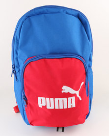 Puma Phase Small Backpack Blue & Red