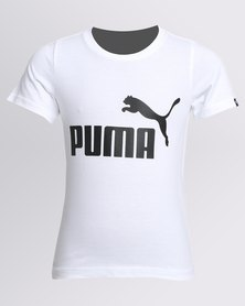 Puma Boys ESS No 1 Tee White