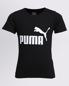 Puma Boys ESS No 1 Tee Black