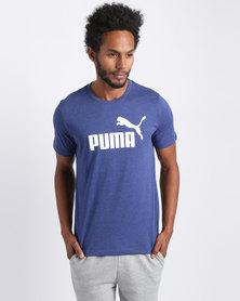 Puma Essential No.1 Heather Tee Blue