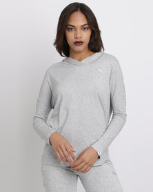 Puma ESS Hooded Cover Up  Light Grey Heather