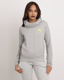 Puma Elevated Roll-neck Sweat Light Grey Heather