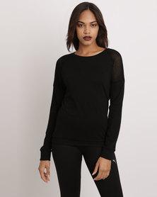 Puma Style Trend Jersey Top  black