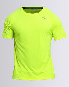Puma Performance Core-Run Short Sleeve Tee Safety Yellow