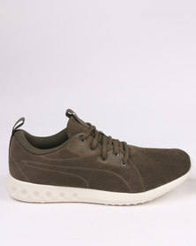 Puma Performance Carson 2 Molded Suede Sneaker Green