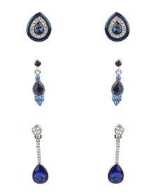 Queenspark Pretty 3 Pack Earrings Blue