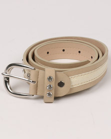 Queenspark Combo Inner Belt With Trims Natural