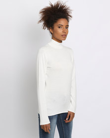 Queenspark Turtleneck Core Jersey Cream