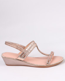 Queenspark Baguette Elastic Ankle Strap Pink