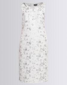 Queenspark Jacquard Woven Dress Silver