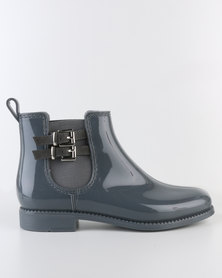 Queenspark Double Buckle Ankle Boot Jelly Grey