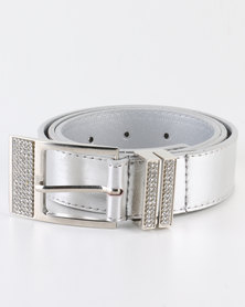 Queenspark Double Diamante Keeper Belt Silver