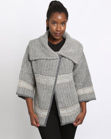 Queenspark Cath.Nic Shawl Neck Cardigan Knitwear Multi