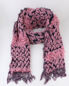 Queenspark Two Tone Design Scarf Pink