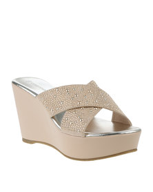 Queenspark C/Over Mini Stud Wedge Natural