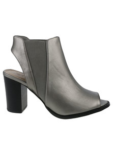 Queenspark Peep Toe Shoe Pewter