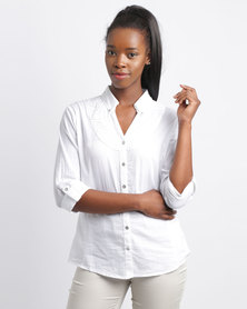 Queenspark Working Girl Woven Shirt White