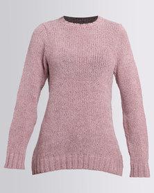 Queenspark Cath.Nic Crew Neck Knitwear Pink