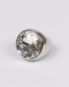 Queenspark Big Diamond Ring Clear