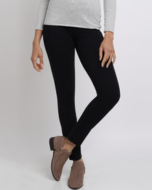Queenspark Cath.Nic Elasticated Waist Knit Jeggings Navy