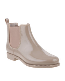 Queenspark Flat Jelly Ankle Boots Neutral
