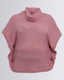 Queenspark Plus Textured Tabard Jersey Pink