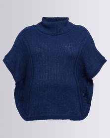 Queenspark Plus Textured Tabard Jersey Blue