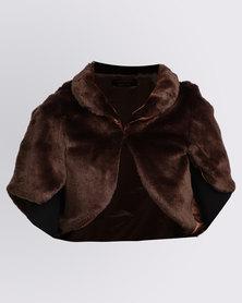 Queenspark Cath.Nic Faux Fur Jacket Chocolate