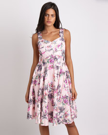 Queenspark Pretty Pink Fit & Flare Woven Dress Pink