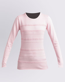 Queenspark Cath.Nic Surface Interest Crewneck Knitwear Pink