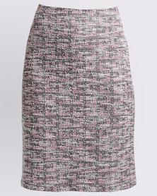 Queenspark Tapestry Woven Skirt Pink
