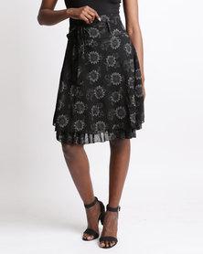 Queenspark Glam Woven Skirt Black